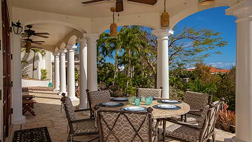 Alfresco Dining on the Las Brisas Caribe Main Deck Overlooking the Pool Patio